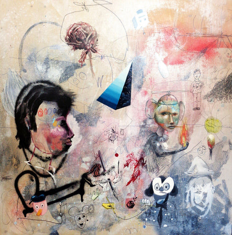 Mixed Media, Drawing On Wood - Collin Van Der Sluijs