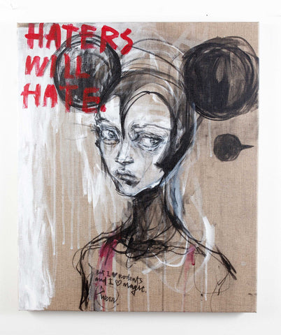 "Mixed Media - Hera ""Haters Will Hate. But I Love Rodents And I Love Magic."""