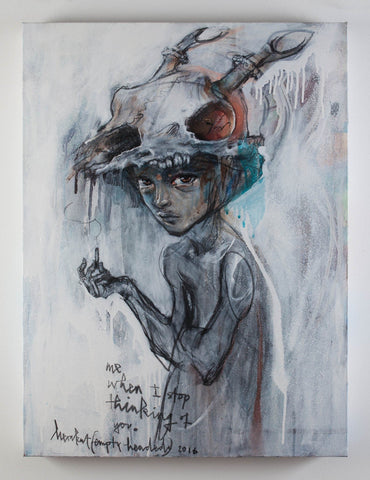 "Mixed Media - Herakut ""Me. When I Stop Thinking About You. Empty Headed."""