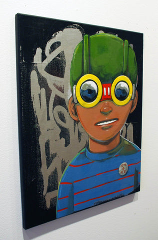 Mixed Media On Canvas - Hebru Brantley