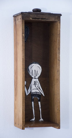 Mixed Media On Wood - Alex Senna