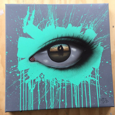 Spray Paint And Acrylic On Canvas - My Dog Sighs