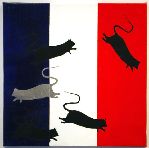 Spray Paint On Canvas - Blek Le Rat