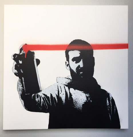 Spray Paint On Canvas - FAKE