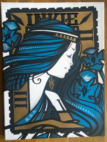 Spray Paint On Canvas - Inkie