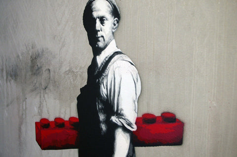 Spray Paint On Canvas - Martin Whatson