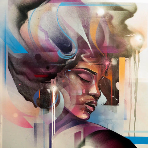 Spray Paint On Canvas - Mr. Cenz