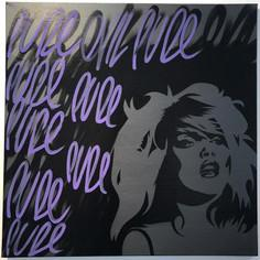 Spray Paint On Canvas - Pure Evil