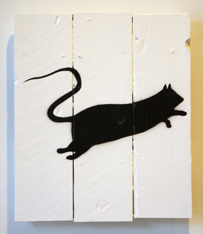 Spray Paint On Wood - Blek Le Rat