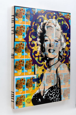 Spray Paint On Wood Panel - Brad Novak