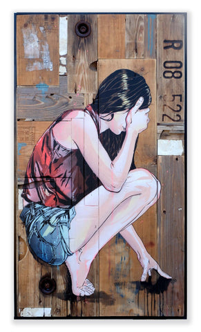 Spray Paint On Wood Panel - Jana & JS