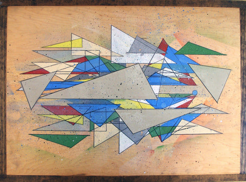 Spray Paint On Wood Panel - Sean McMahon