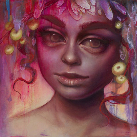 "Spray Paint On Wood Panel - Tatiana Suarez ""Invasive"""