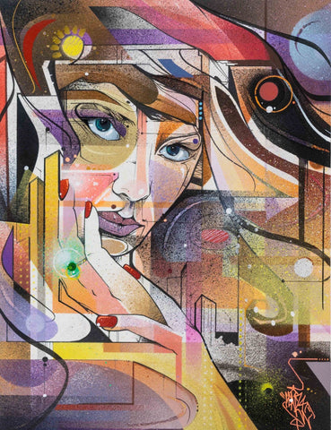 Spray Paint, Water Color, And Ink - Mr. Cenz