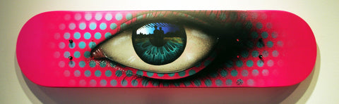 Spraypaint On Skateboard Deck - My Dog Sighs
