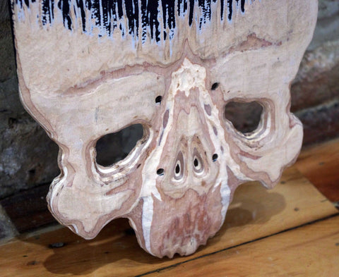 Wood Carving And Paint On Skateboard - Yoki