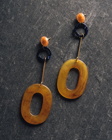 iuo Jewelry Oblong Earring, Amber