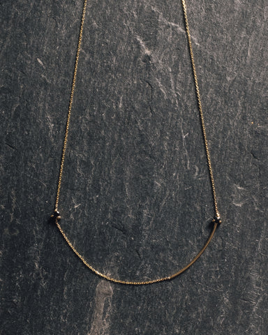 Mirta Reverse Necklace, Double Black Diamond
