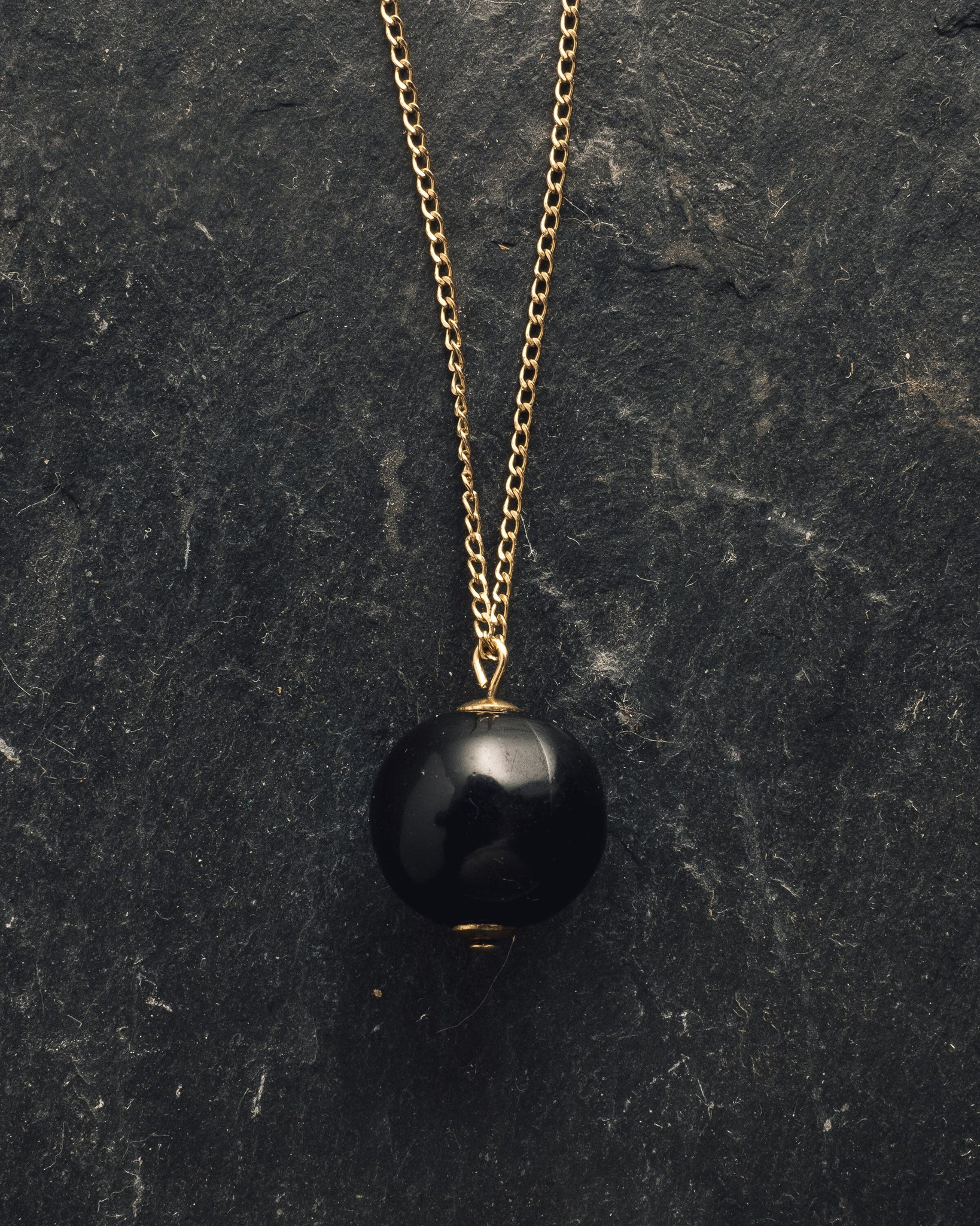 Rou Jewelry Black Moon Necklace