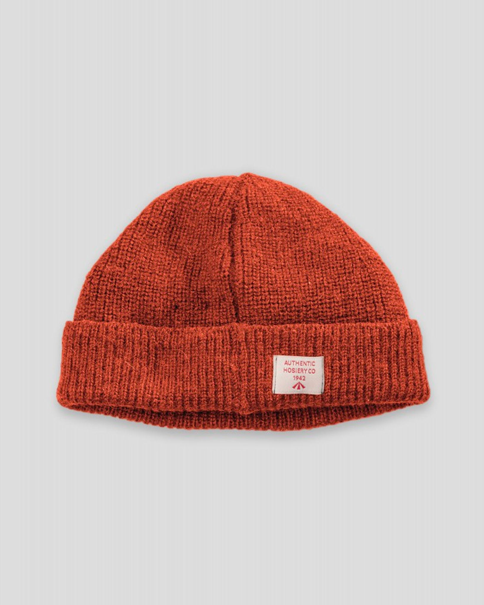 Nigel Cabourn Solid Beanie, Vintage Orange