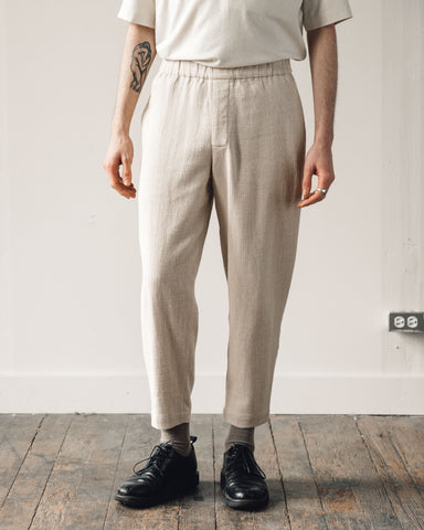 7115 Men's Elastic Long Trouser, Oatmeal