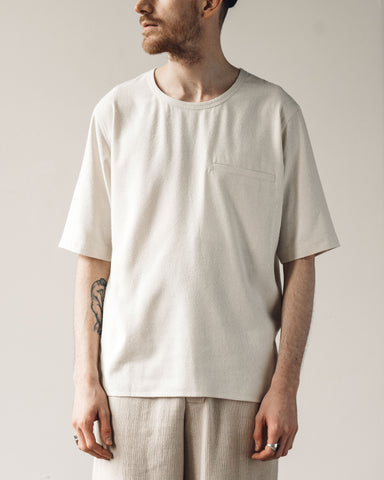 7115 Men's Pocket Tee, Off-White