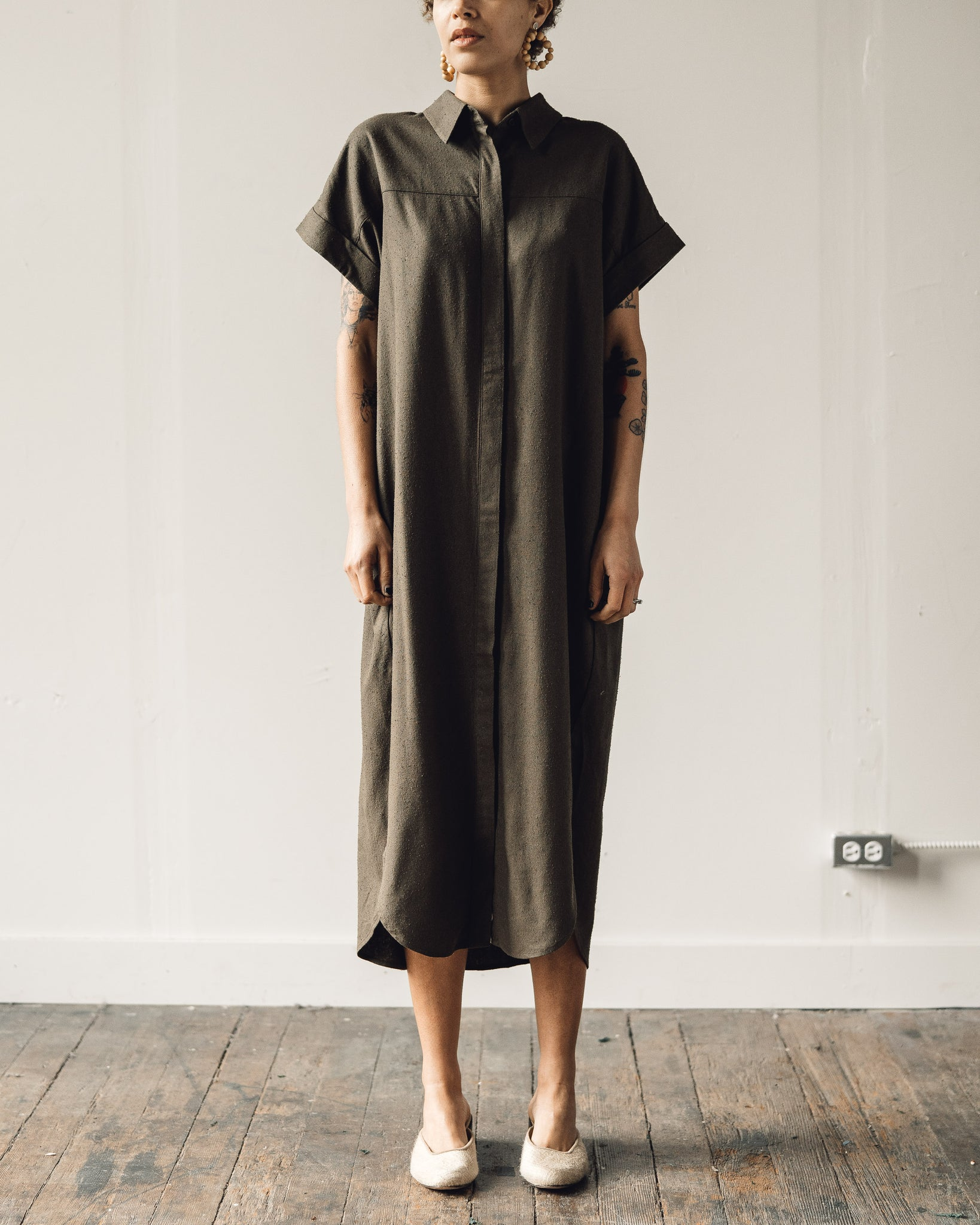 7115 Signature Maxi Shirtdress