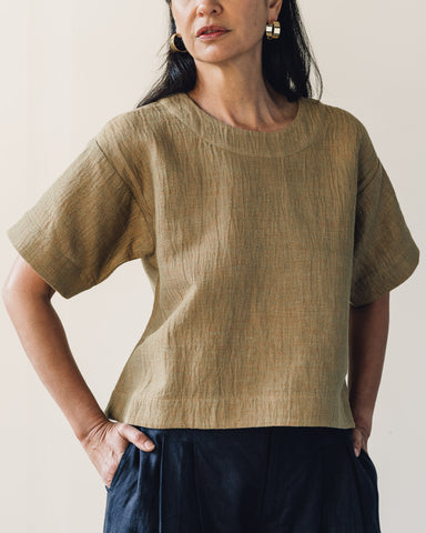 7115 Boat Neck Top, Chartreuse