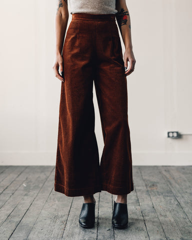 7115 Corduroy Wide Legged Trouser, Rust
