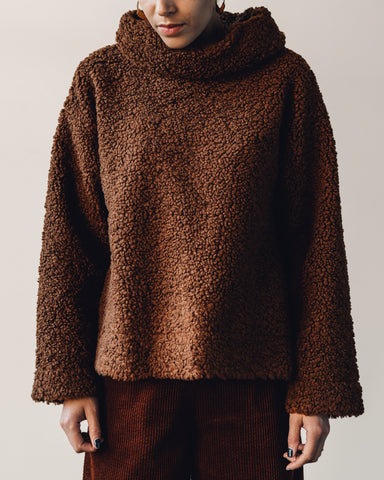 7115 Curly Turtleneck, Rust