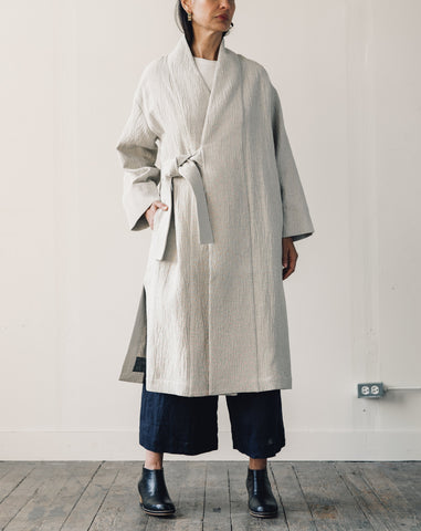 7115 Karate Long Coat, Dove