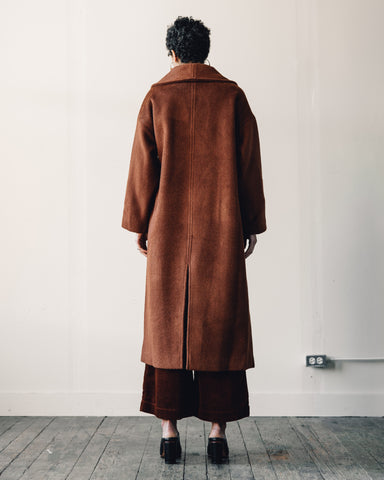 7115 Lapel Winter Coat, Rust