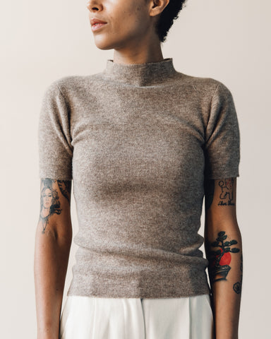 7115 Mockneck Fitted Tee, Faune