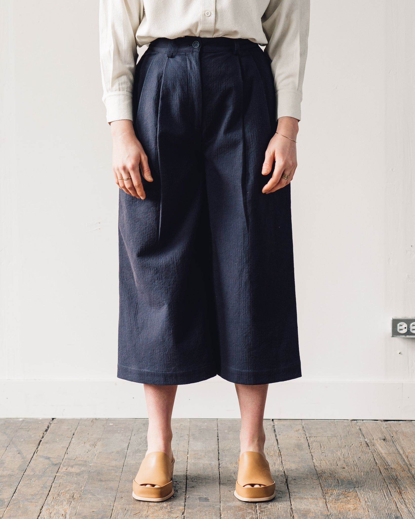 7115 Pleated Skate Trouser, Navy