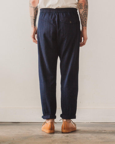 Universal Works Track Trouser, Herringbone Denim