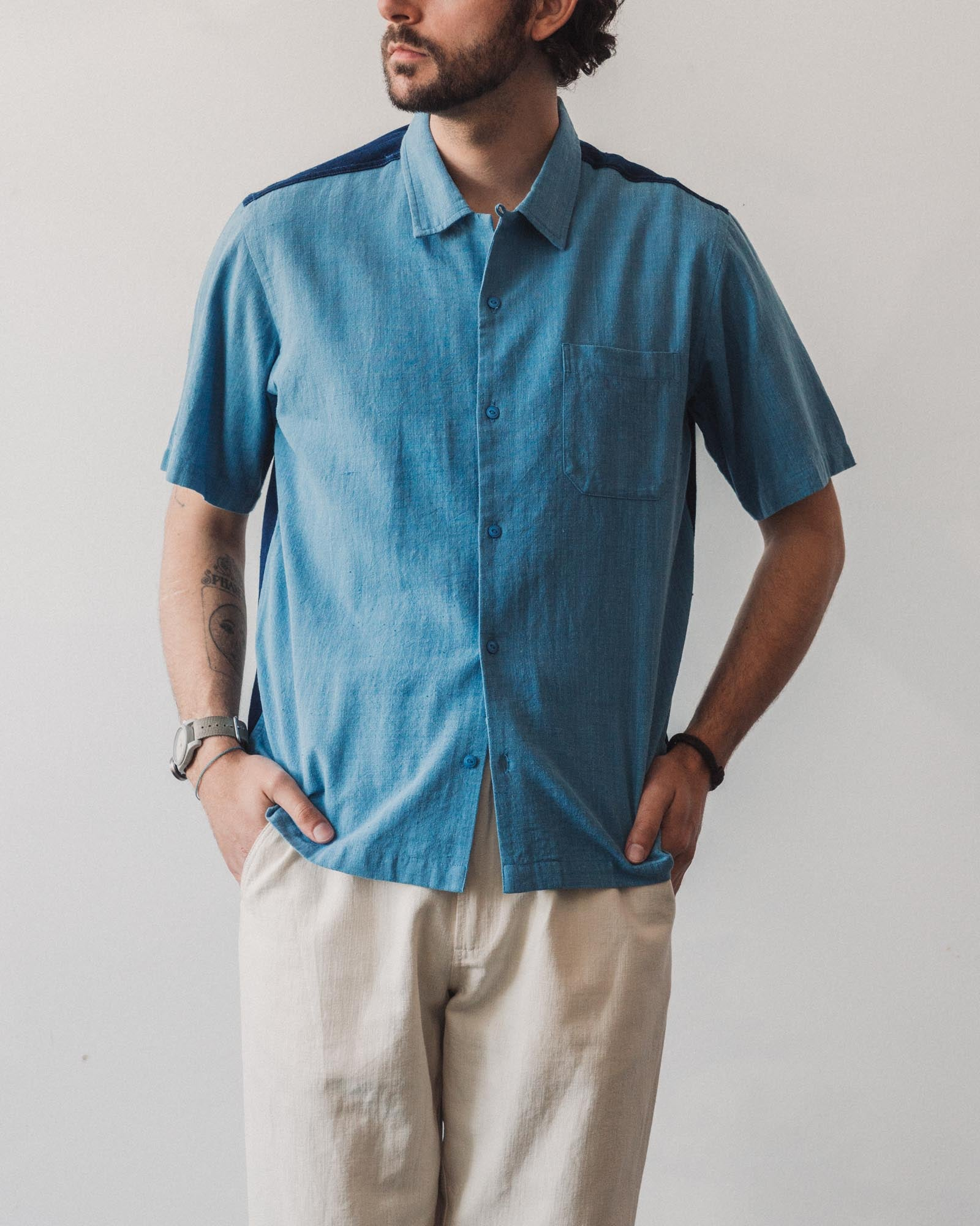Universal Works Road Shirt, Sky Blue