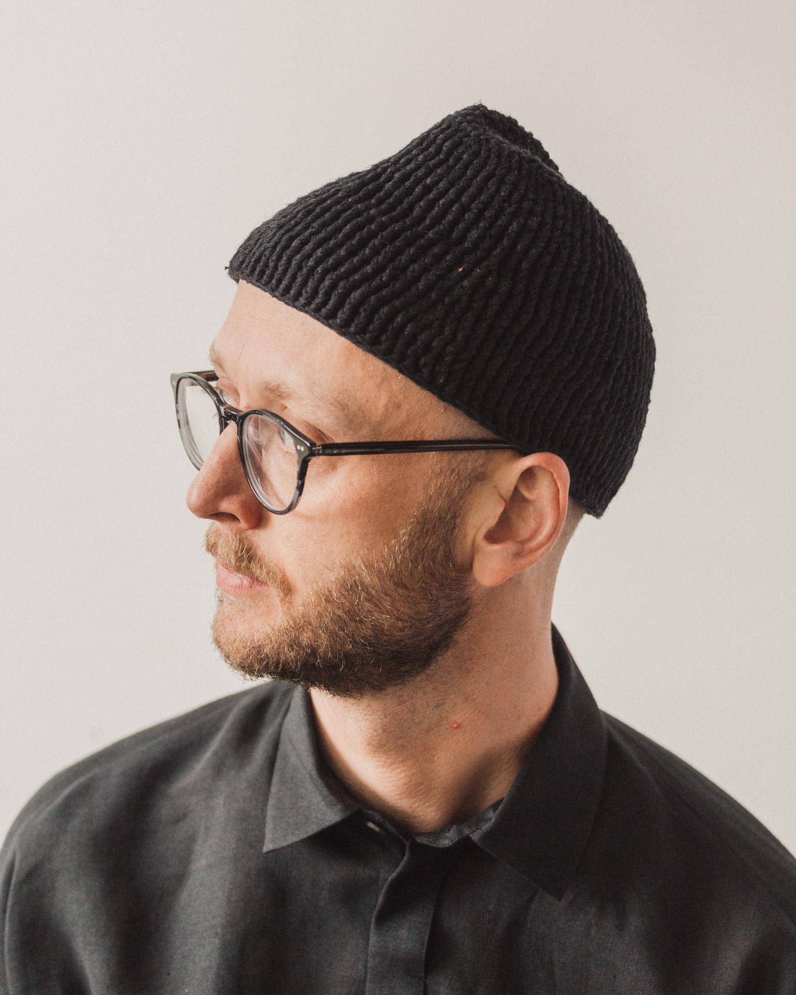 Jan-Jan Van Essche Hat #3, Black Linen