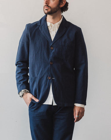 Universal Works Three Button Jacket, Navy