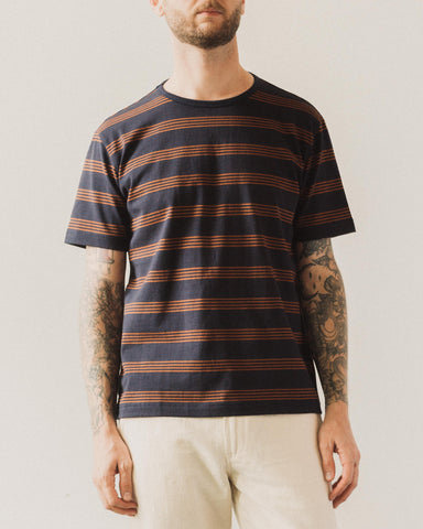 Arpenteur Match Tee, Navy/Terracotta