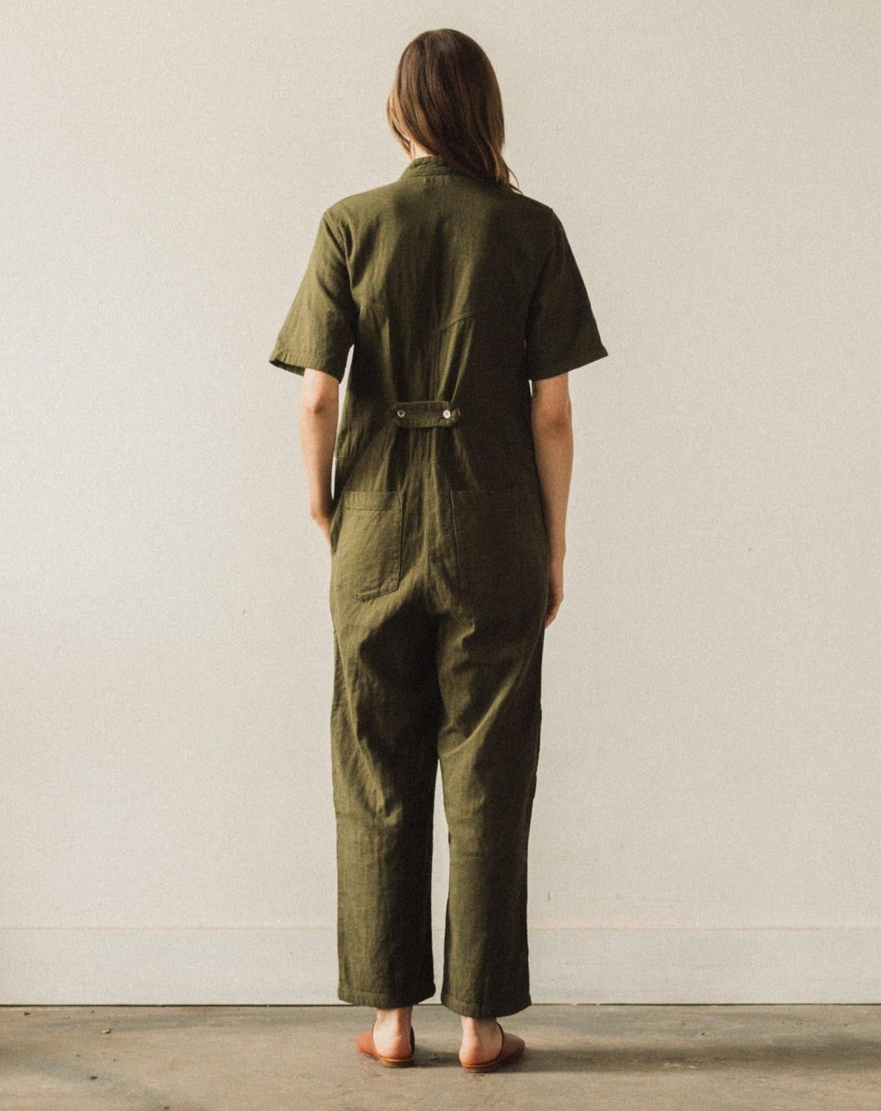 Delphine Ailuk Jumpsuit, Hunter Green