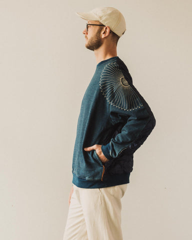 Kapital Bivouac Big Sweater, Furoshiki Indigo