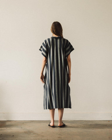 7115 Striped Swing Shirtdress, Dark Stripe