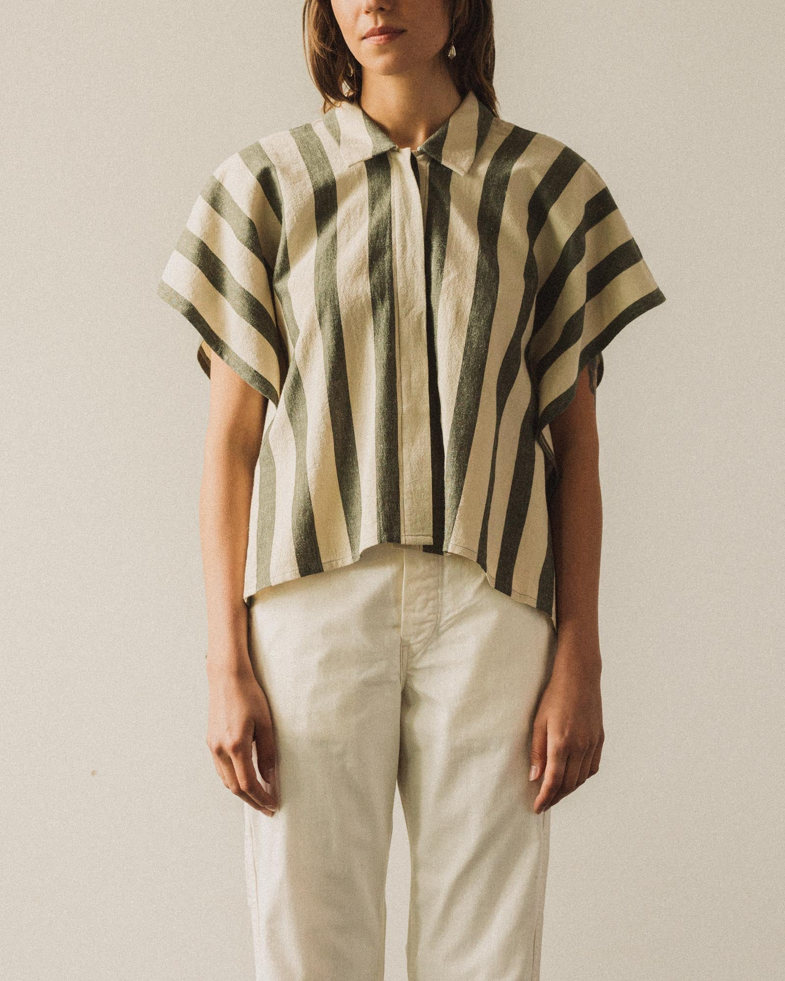 7115 Striped Swing Shirt, Light Stripe