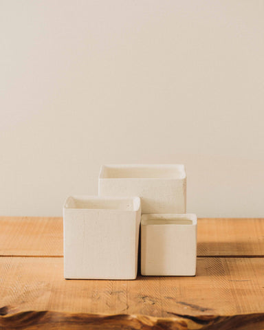 Haus Cube Pot, White