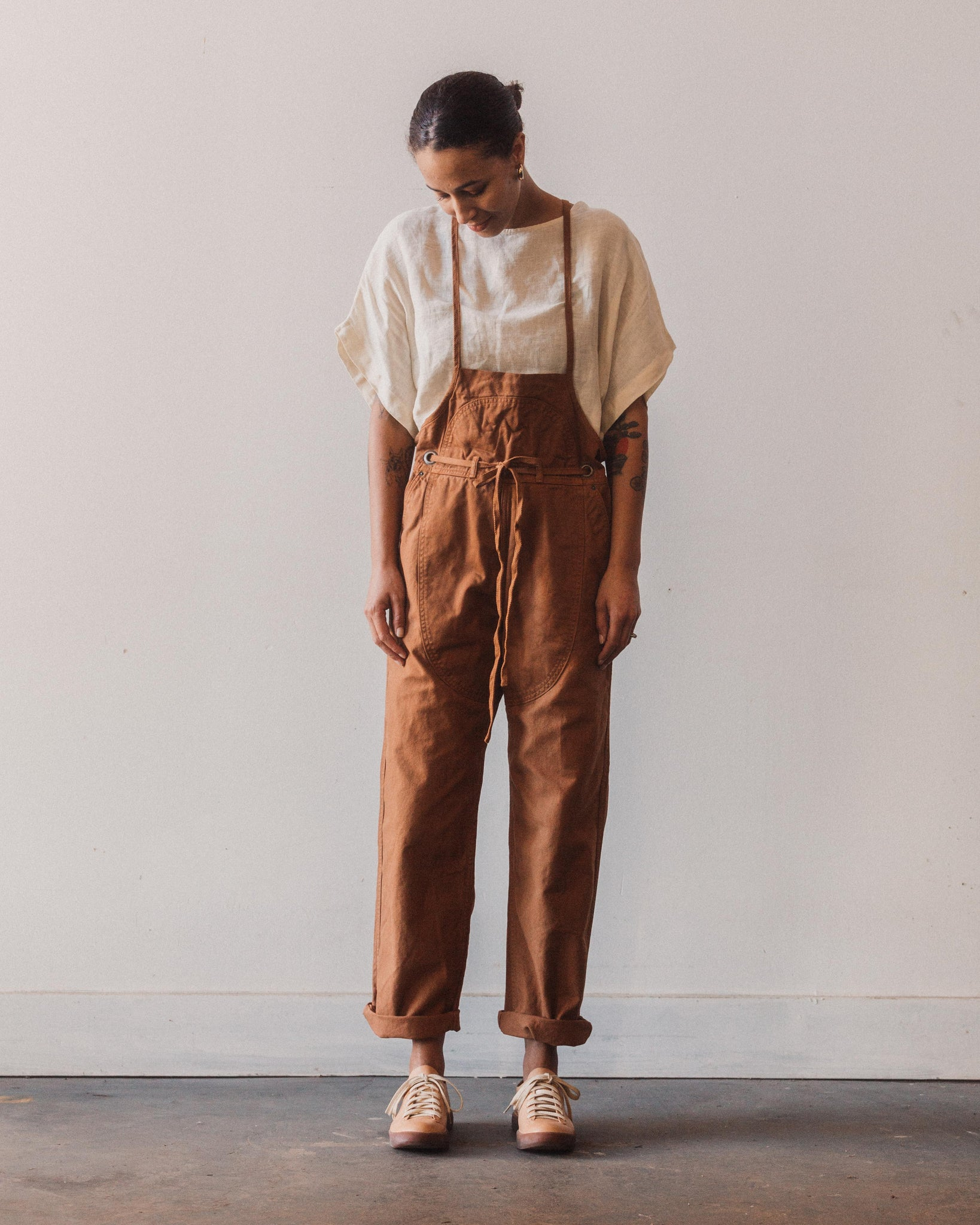 Kapital Light Canvas Welder Overall, Leather Brown