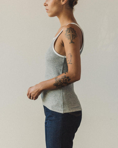 W'menswear Reversible Tektite Tank, Light Grey