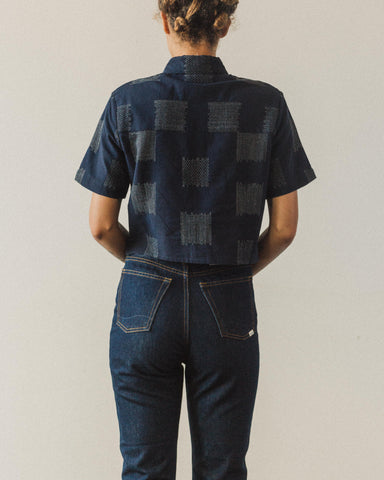 7115 Cropped Button-Down, Navy Square