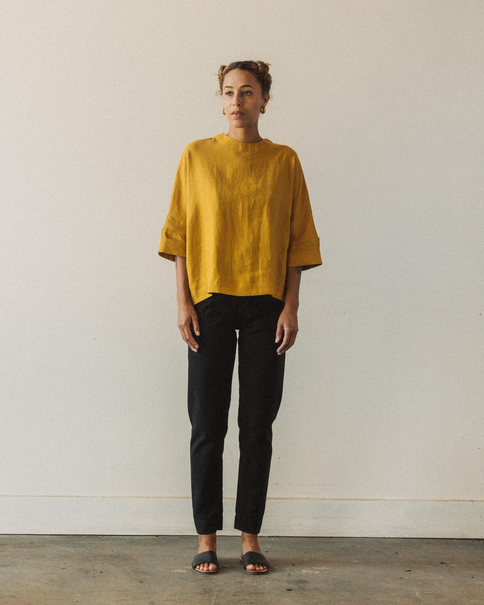 7115 Relaxed Square Top, Canary