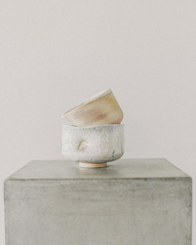 Natasha Alphonse Woodfired Sippers, Raw Porcelain