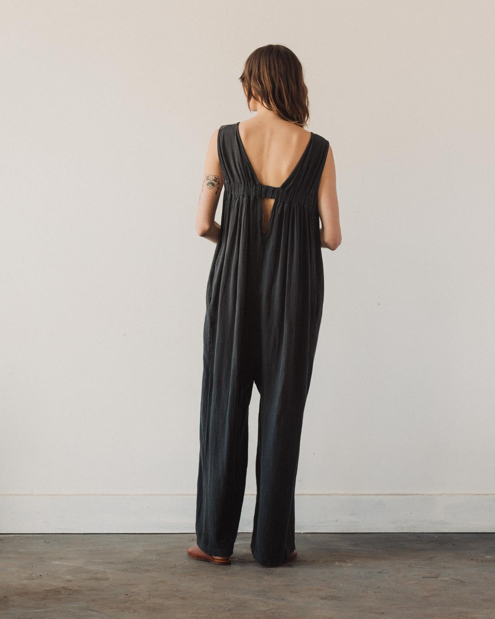 Black Crane Leaf Jumper, Black